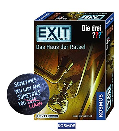 EXIT Kosmos Spiele 694043 Spiel - Das Haus der Rätsel + 1 Cooler Sticker Sometimes You Win.. by Collectix gratis