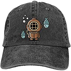 Nifdhkw Plongée Vintage Unisexe Lavable Réglable Chapeau Vintage De Cowboy Denim Casquettes De Baseball Multicolor65
