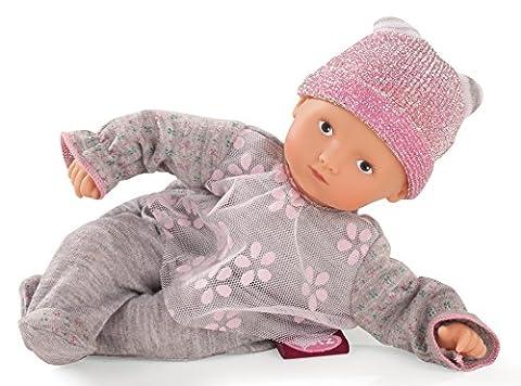 Götz 1687025 Mini-Muffin Netlace & Flowers - 22 cm große Weichkörperpuppe mit gemalten blauen Augen und ohne Haare - 3-teiliges Set bestehend aus der Puppe und der Bekleidung - geeignet für Kinder ab 18 Monaten