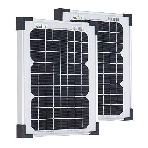 Offgridtec Sparbundle 2 Stk. Monkristallines Solarpanel 001265 10W 12V