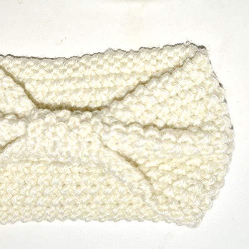 DRESHOW 4 Pack Crochet Knit turbante fascia calda ingombranti all uncinetto  fascia dell involucro della testa dello scaldino dell orecchio per le donne 99a3dbfbbf61
