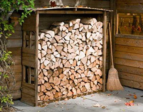 *Kaminholzregal 154x38x151 – Brennholzlager aus Nadelholz, Holzunterstand für Kaminhlolz*