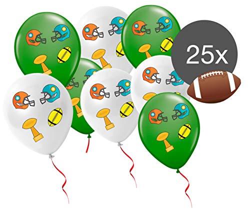 TK Gruppe Timo Klingler 25x Luftballons Ballons Super Bowl Deko Dekoration 2019 Party Set American Football