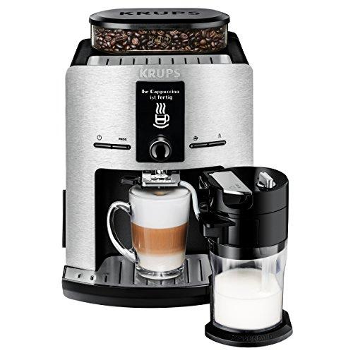 Krups EA829D Kaffeevollautomat Latt'Espress (Aluminiumfront, One-Touch Funktion, 15 bar, LC Display,...