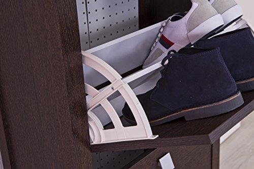 Intradisa 21AB - Zapatero estrecho, 3 puertas, diseño clásico wengue
