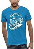 PIXEL EVOLUTION 3D Animierte T-Shirt Football Marseille in Augmented Reality Herren - Größe XL - Türkis