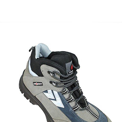Aimont Ariel S1P SRC Sicherheitsschuhe Arbeitsschuhe Trekkingschuhe hoch Grau Grau