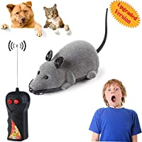 bluesees Remote Control Rat Toys, Wireless Control Rat Mouse Moving Mouse For Cat Kitten Dog Pet Novelty Gift,Infrared RC Realistic Rat Toy For Kids Children Halloween Christmas Party Birthday Gifts