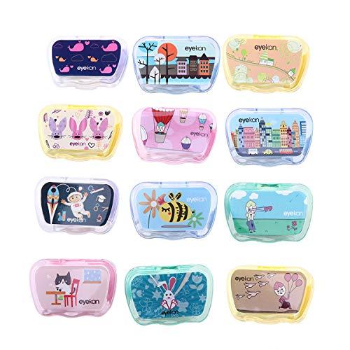 taktlinsenbehälter Kontaktlinsenbehälter mit Pinzette und Saugnapf für zu Hause und unterwegs (Random Color) ()