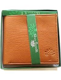 Woodland Men's Leather Wallet Tan Colour