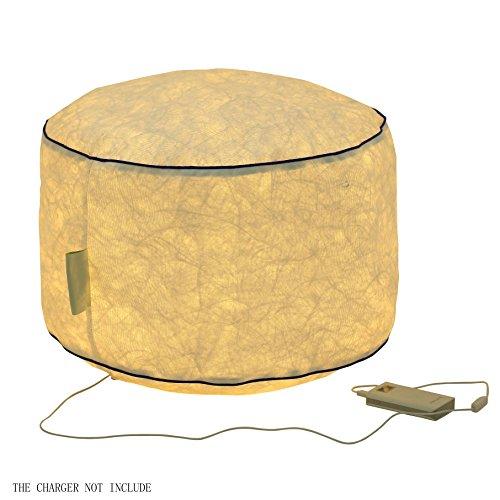 lasbare Liege, tragbarer Stuhl für Haloween, Chistmas Dekoration mit Beleuchtung Effekt Cylinder ()