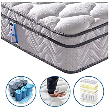 5b64491f0fd9 Vesgantti Box Top Series 10.3 Inch 4FT Small Double Multilayer Hybrid  Mattress Ergonomic Design with Soft Fabric and Comfort Foam Pocket Spring  Orthopaedic ...