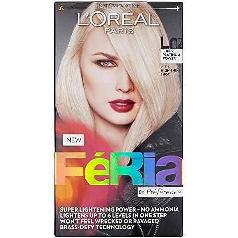L' Oreal–Paris Feria colore capelli L02Super Potere Platino