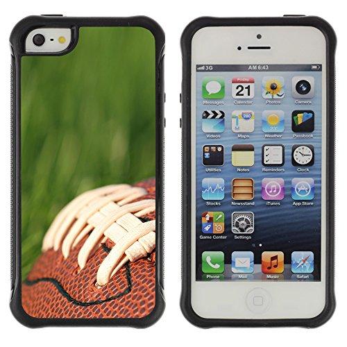 Graphic4You Amerikaner Fußball Football Sport Design Harte Hülle Case Tasche Schutzhülle für Apple iPhone 5 und 5S Design #2