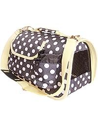 BPS (R) Portador Transportín Bolsa Bolso de tela (Lunares) para Perro o Gato, Mascotas, Animales, Tamaño: L, 51 x 26 x 29 cm.