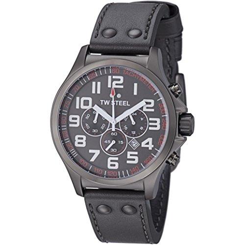 TW Steel - TW-422 - Montre Femme - Quartz Chronographe - Chronomètre - Bracelet Cuir Multicolore