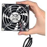 ELUTENG Ventilador externo de 80mm silencioso USB Fan para portátil ordenador de sobremesa router PlayStation Xbox con depósito de agua