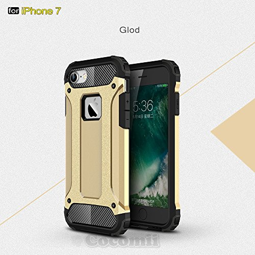 iPhone 8 / iPhone 7 Coque, Cocomii Commando Armor NEW [Heavy Duty] Premium Tactical Grip Dustproof Shockproof Hard Bumper Shell [Military Defender] Full Body Dual Layer Rugged Cover Case Étui Housse A Gold