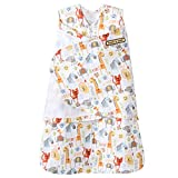 HALO SleepSack Baby Swaddle 100% Cotton-Newborn 0-3 Months-Yellow Jungle Pals