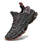 FUSHITON Chaussures de Sport Hommes Basket Running Compétition Training Fitness Tennis Athlétique Sneakers Femme, Gris/B, 42 EU...