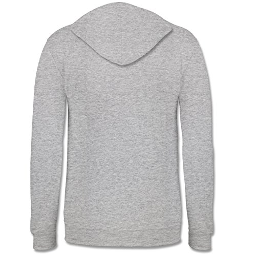 Romantisch - Love is simple - Kontrast Hoodie Grau meliert/Dunkelblau