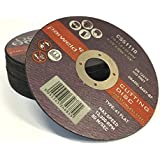 "(PACK OF 50) PARWELD 115 x 1mm Thin metal cutting discs for mild steel & stainless (4.5"" discs)"