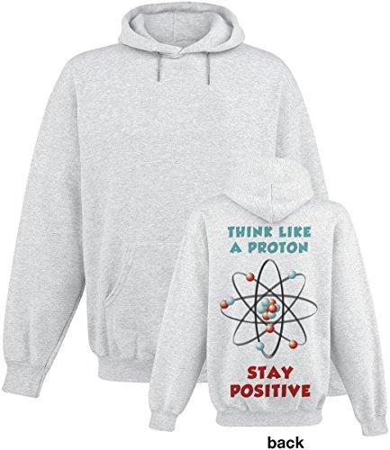 Think Like A Proton Sweat à capuche gris Gris