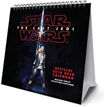 Star Wars Episode 8 The Last Jedi Official Desk Easel 2018 C (Desk Easel Calendar 2018)