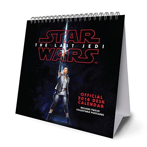 Star Wars Episode 8 The Last Jedi Official Desk Easel 2018 Calendar - Month To View Desk Format (Desk Easel Calendar 2018)