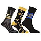 HDUK Herren Socken, Motive: Batman / Spider-Man / Tigger / Snoopy / Die Muppets / Die Simpsons / Mr. Men / Sesamstraße, 3 Paar