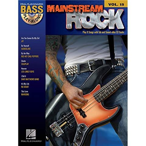 Bass Play-Along Volume 15: Mainstream Rock. Partitions, CD pour Guitare