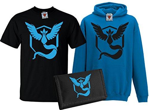 Bullshirt da bambini Team Mystic T-shirt, Felpa Con Cappuccio & Portafoglio Set Black / Sapphire Blue / Black 12-13 Anni - Red Mystic Jacket