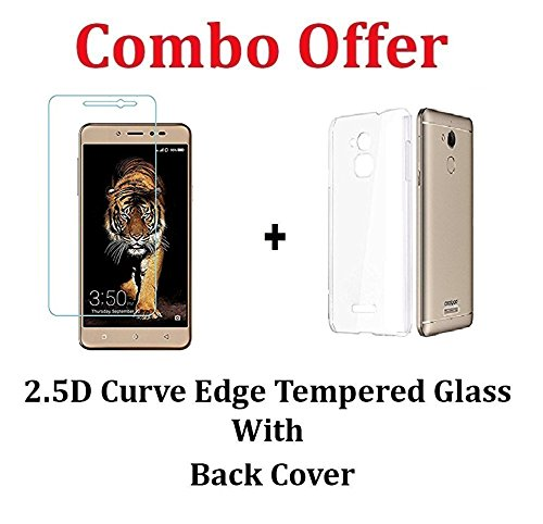 Coolpad Note 5 Back Cover + Tempered Glass [Combo Pack]