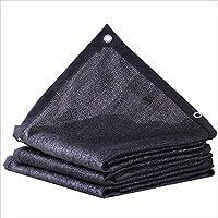 SSYBDUAN Lona, Tela de Lona Negra sombreada, Resistente al Desgaste, antienvejecimiento, tamaño múltiple Opcional, (2x6m) (Color : Negro, Tamaño : 4x5m)