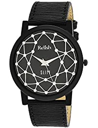 RELISH RE-S808BB SLIM Black Dial Analog Watch For Mens & Boys