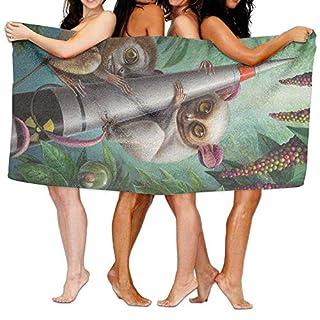 rongxincailiaoke 31x51 Inch High Absorbency Bath Towel Lemur Arboleda Lightweight Large Bath Sheet for Beach Home Spa Pool Gym Travel