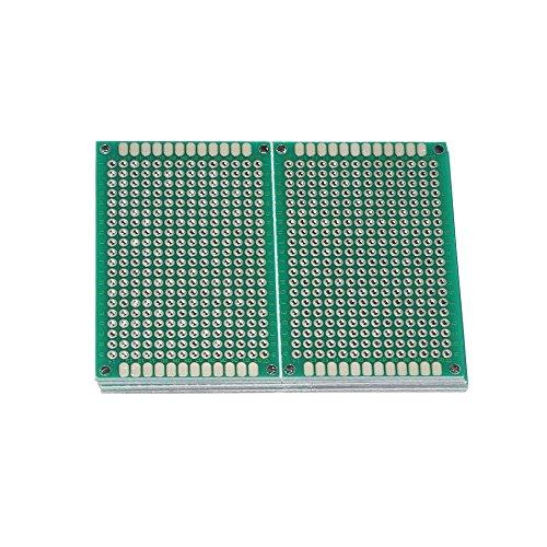 Haobase 10Stk. 4x6cm Lochrasterplatte Lochrasterplatine Leiterplatte Streifenraster Platine PCB Board
