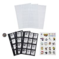 Exclusive Beetall medal included;12 storage slots per page (Medals each sold separately, subject to availability);Kids can use the included stickers to customize;Includes 3 storage pages, 3 character pages, medal, and sticker sheet