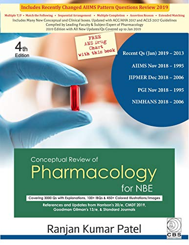 CONCEPTUAL REVIEW OF PHARMACOLOGY FOR NBE 4ED (PB 2019)