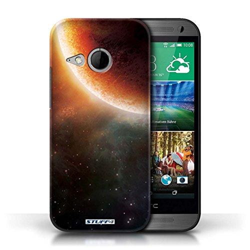 Kobalt® Imprimé Etui / Coque pour HTC One/1 Mini 2 / Planète Pourpre conception / Série Cosmos Éclipse Orange