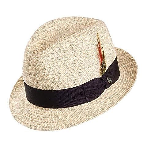 Jaxon & James Toyo Straw Trilby Hat - Natural LARGE