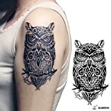 Zokey Wasserdicht Körper Temporäre Tattoo Aufkleber Eule WS42