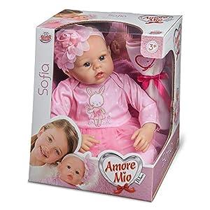 Grandi Giochi - Andi Giochi GG72051-Amore Mio Sofia Real Doll, Color Rosa, GG72051