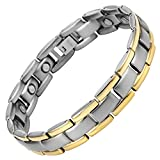 Titanium Magnetic Therapy Bracelet Two Tone Adjustable By Willis Judd