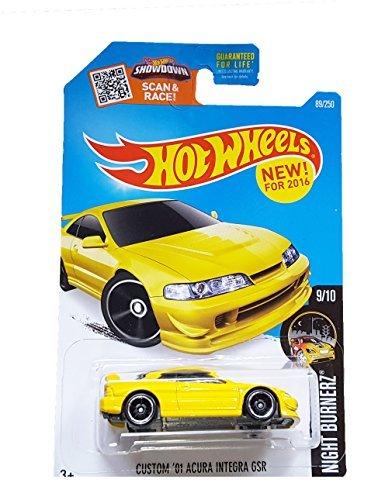 Preisvergleich Produktbild Mattel Hot Wheels 2016 Night Burnerz 9/10 - Custom '01 Acura Integra GSR (Yellow) by Hot Wheels