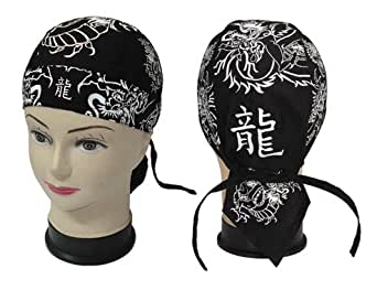 bandana zandana kopftuch mit schlaufen zum binden dragon 1 bekleidung. Black Bedroom Furniture Sets. Home Design Ideas