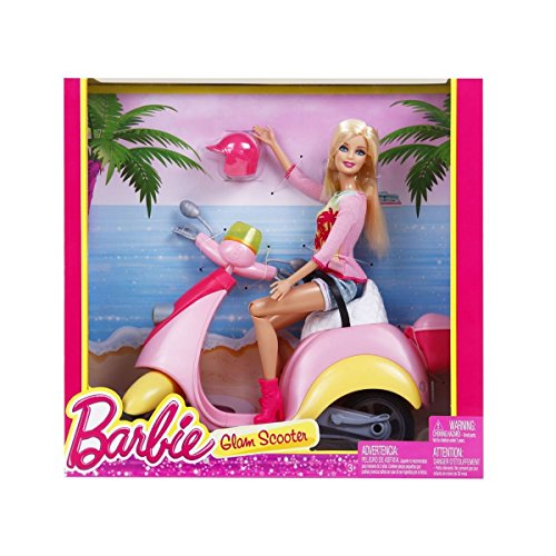 Image of Barbie Pink Glam Scooter & Doll