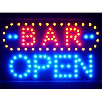 Led072 b bar open led neon sign whiteboard amazon kitchen led072 b bar open led neon sign whiteboard aloadofball Gallery