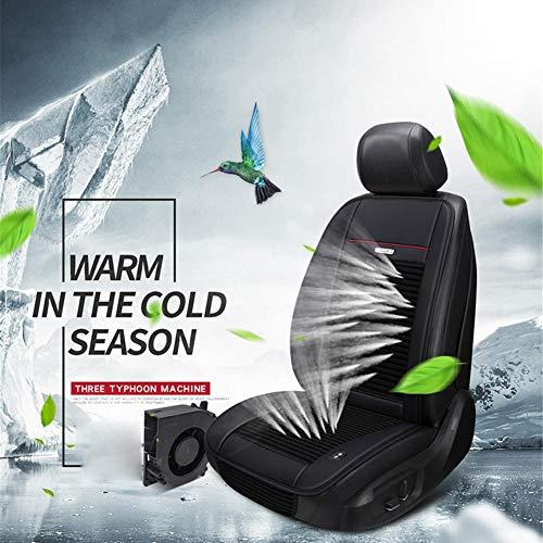Cuscinetto di raffreddamento per auto, multifunzione, con 3 ventole integrate, per la ventilazione del sedile dell'auto, rinfrescante per l'estate, Nero , 12V