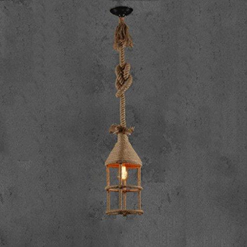 CRL Innenbeleuchtung Kronleuchter Klassische kreative Hanf Bar Dekorative Kronleuchter E27 Haushaltsbeleuchtung -